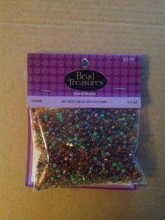 Bead Treasure Glass Beads.  6/0 seed bead mix Autumn.  3.5oz (192369 - Hobby Lobby)