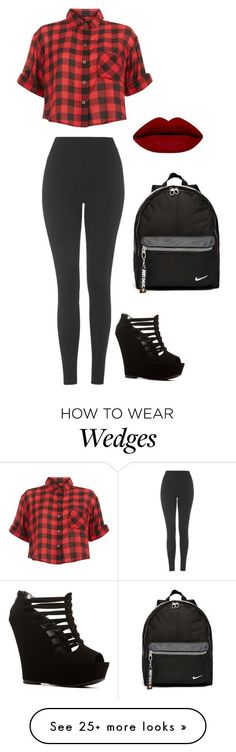 """Untitled #922"" by sweetswagger on Polyvore featuring Innocence, Topshop, NIKE, women's clothing, women, female, woman, misses and juniors"