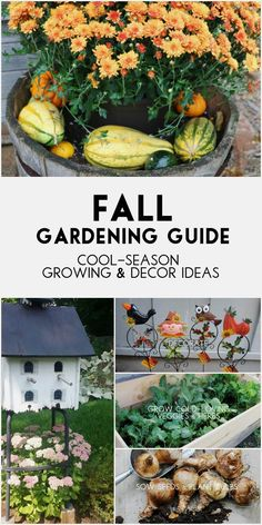 Summer is over and fall gardening season begins! There are plenty of flowers that bloom in the fall garden and many perennials and bulbs to planted for spring blooms. This is also an ideal time for growing cold-loving vegetable and herbs. And what better way to celebrate the beauty of the season than some fabulous garden art using pumpkins, corn stalks, wreaths, flags, and more. #sponsored