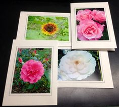 Flower Photography Greeting Cards (4 pack of 4 different styles)