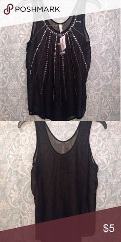 a6ebebbdf8d TJ Maxx sheer top Black with sequin details Truth NYC Tops Tank Tops Black  Sheer Top
