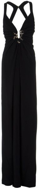 Roberto Cavalli Sleeveless DeepNeck Dress in Black - Lyst