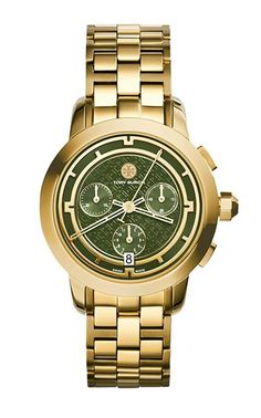 The epitome of tomboy chic, the Tory chronograph is a classic, sporty style | Tory Burch Watches