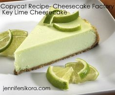 Save a few bucks and make Cheesecake Factorys key lime cheesecake at home. | 15 Copycat RestaurantRecipes