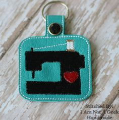 Sewing Machine Key Fob PLEASE NOTE: This is a digital machine embroidery design file…NOT an actual item! You MUST have an embroidery machine in order to use this file. You will need felt, vinyl or glitter vinyl, stabilizer, thread, snaps … Continued