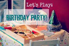 birthday party pretend play