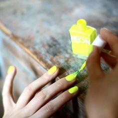 American Apparel Neon Nail Polish in Neon Yellow
