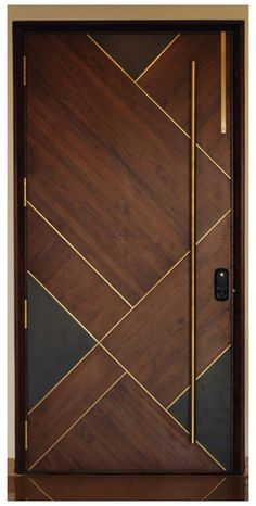 Modern Entrance Door, Main Entrance Door Design, Wooden Front Door Design, Modern Wooden Doors, Wooden Front Doors, Modern Door, House Main Door Design, Flush Door Design, Home Door Design