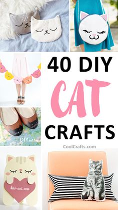 40 Cutest Cat Crafts You Can Make With Your Kids is part of Cool crafts DIY - We've roundedup 40 of the cutest and coolest DIY cat crafts that are sure to get you all starryeyed Pick your favorite project and let us know Fun Crafts For Kids, Diy For Kids, Crafts To Make, Arts And Crafts, Craft Gifts, Diy Gifts, Cat Birthday, Birthday Parties, Cat Crafts