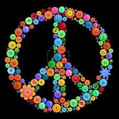 Peace sign Button Art