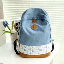 Cheap backpack school bag, Buy Quality school bags for teenagers directly from China bags for teenagers Suppliers: Fashion Floral Lace +Denim Canvas Women Bag Backpack School bag For Teenagers Ladies Girl Back Pack Schoolbag Bagpack Mochila Denim Backpack, Rucksack Backpack, Canvas Backpack, Fashion Backpack, Laptop Backpack, Travel Backpack, Teen Backpack, Denim And Lace, School Bags For Girls