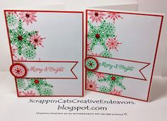 Welcome to                  Scrappin' Cat's Creative Endeavors: More snowflake Christmas cards