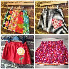 FairyFace Designs: {Sew} Get Started: Easy Girl's Skirt Tutorial
