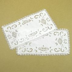 A personal favorite from my Etsy shop https://www.etsy.com/listing/537279728/vintage-1940s-pair-of-embroidered-white