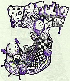 doodle - letter 'J' by thethespianlover.deviantart.com