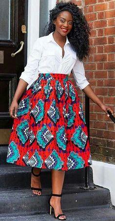 ♡Cassy Skirt. Sizes S-4XL www.grass-fields.com #africanfashion #africanprint #africanskirt #africandress #headwrap #africangirl #africanstyle #africanbeauty #africanqueen #blackqueen #africanfabric #africandesign #afro #naturalhair #afrogirl www.grass-fields.com