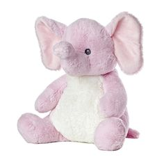 Sweet and Softer 18 Inch Stuffed Pink Elephant by Aurora at Stuffed... ($29) ❤ liked on Polyvore featuring toys, baby, stuffed animals, kids and fillers