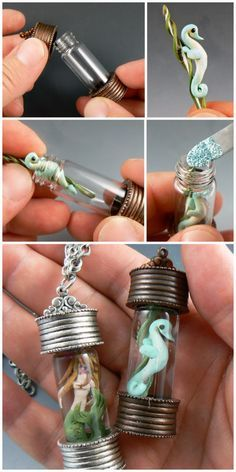 Christi Friesen is a world famous polymer clay artist and is known for her fun personality and creative style. Here we see Christi walking through the steps of using the Nunn Design Keepsake Pendants to create fun polymer pieces.