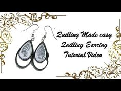 Art & Craft How to make Beautiful Quilling Earring Black/white New design -Paper Art Quilling - YouTube