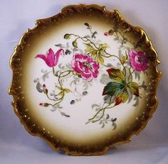 Set of 6 Antique Coiffe Limoges Luncheon Plates with Wild Roses Up for auction is a beautiful set of 6 antique Limoges luncheon or salad plates. They measure 9-1/8 across with irregularly wavy and e