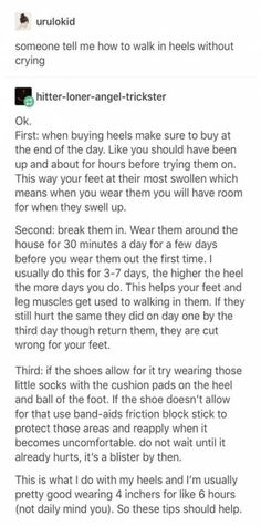 How to wear heels comfortably awesome ideas howtowear is part of Life hacks - Simple Life Hacks, Useful Life Hacks, Life Advice, Good Advice, The More You Know, Good To Know, Life Skills, Life Lessons, Camomille Romaine