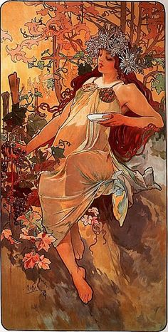 Alphonse Maria Mucha ~ The Four Seasons ~ Autumn ~