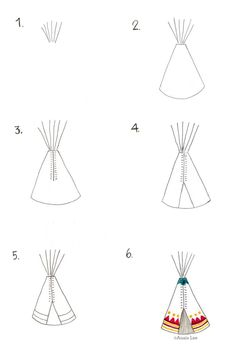 How to Draw a Teepee by Anais Lee Native American Drawing For Kids, Painting For Kids, Art For Kids, Classroom Art Projects, Book Projects, Classroom Ideas, Drawing Lessons, Art Lessons, Drawing Notepad