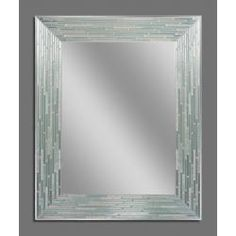 Reeded Sea Glass Mirror (1205)