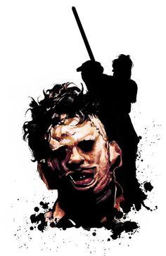 Horror Cartoon, Horror Icons, Sci Fi Horror, Horror Films, Slasher Movies, Horror Movie Characters, Creepy Movies, Fear Of The Dark, Texas Chainsaw Massacre