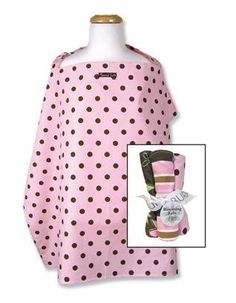 This is a great gift set which includes a fun, modern print nursing cover along with a 4-pack of matching burp cloths.The  Nursing Cover is approximately 34 #tinytotties