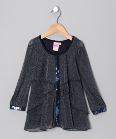Take a look at this Blue Leopard Tunic - Toddler & Girls by Lipstik Girls on #zulily today!