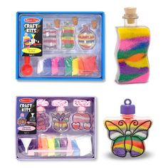 Kids' Sand Art Kits - Melissa  Doug Sand Art Craft Kits Set  Bottles and Pendants -- Learn more by visiting the image link.