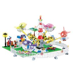TOYS   CONSTRUCTION SET  Playground with People & Rotating Aircraft.....   FREE DELIVERY