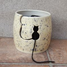 Yarn bowl ....knitting or crochet ....hand thrown ceramic pottery