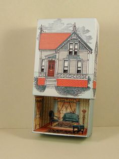 Paper Crafts made with paper: Sample Match Box only .20 cents. More new Match Boxes