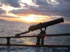 Swivel gun at sunset. #pirates #ships #travel http://historicalseaport.org