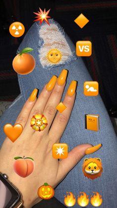 toe nail tips Classy Tape Nail Art, Nail Art Diy, Cute Acrylic Nails, Acrylic Nail Designs, Aycrlic Nails, Manicure, Nagel Hacks, Fire Nails, Orange Nails