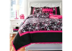 Razzi Pink Full Top of Bed Set