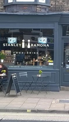 Stanley & Ramona in York Food|Drink sign (could easily be adjusted to have coffee included)