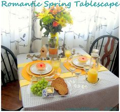 Inspired by Moll Anderson's Seductive Tablescapes for Two.  Check out this romantic spring inspired theme.
