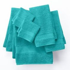 jcpenney bath towel set teal pics | Apt. 9 Highly Absorbent 6-pc. Solid Bath Towel Set (Teal)