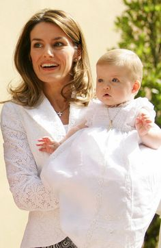 Infanta Leonor of Spain in Christening gown