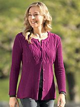 Women's Cabled Easy-Fit Cardigan | Women's Sweater | Sahalie