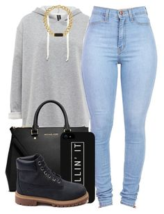 :) by trillest-fashion on Polyvore featuring polyvore, fashion, style, Timberland, MICHAEL Michael Kors and Marc by Marc Jacobs