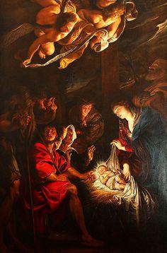 Adorazione dei pastori, Pietro paolo Rubens, 1608, Fermo, Marche, Italy. FERMO PINACOTECA CIVICA MUSEI DI PALAZZO DEI PRIORI