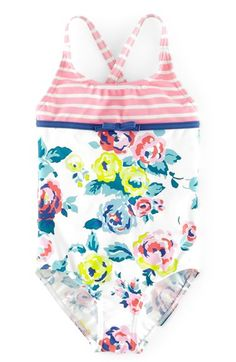 Mini Boden 'Hotchpotch' One-Piece Swimsuit (Toddler Girls, Little Girls & Big Girls) available at #Nordstrom