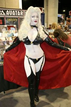 Belle Chere as Lady Death.