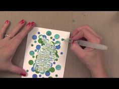cardmaking video: Iron-Off Embossing Technique by Jennifer McGuire and Hero Arts ... like her tips for using Distress Inks in water color look ... fun card!