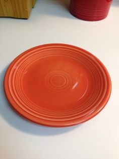 Fiesta Fiestaware Persimmon Plate by thetrendykitchen on Etsy : fiesta cake plate - pezcame.com