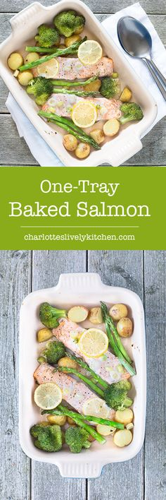 This one-tray baked salmon with summer vegetables makes a delicious dinner with only 5 minutes of prep and virtually no washing up.